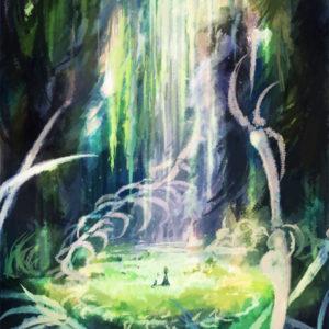 静かに眠るは形骸の檻。白亜は風化すること叶わなかったけれど、透きとおり森の風音を響かせているのなら……きっとその命を恨むことはなかったのね(お題:「不死の呪い」「虚実の監獄」) 2015.11.13