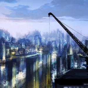 【いつかの夜明け】(お題:「摩天楼」)  2017.05.12