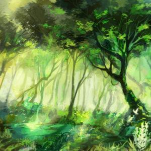 朝靄のように、それらは空気に溶けている(お題:「妖精の住む森」) 2019.02.23
