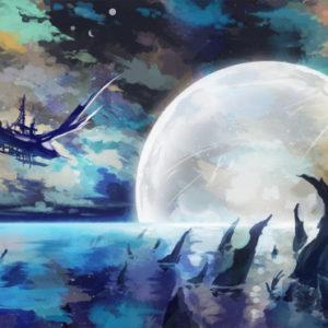 混沌の暗夜を征く、沈みゆく月への航路(お題:「飛行艇」) 2019.06.18