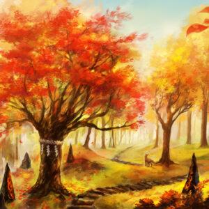 【秋色の遊歩道】 2020.10.30